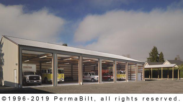 post frame fire department garage
