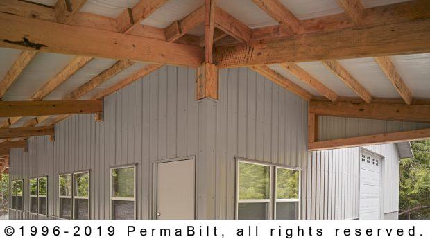 post frame building porch
