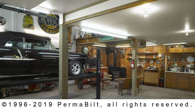 pole building shop interior