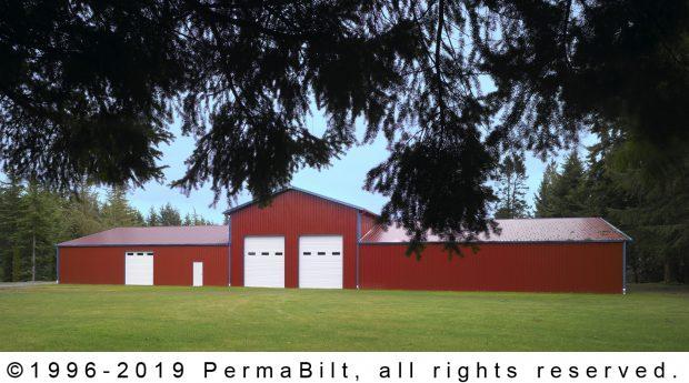 post frame building garage