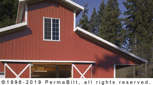 2 story monitor horse pole barn brush prairie wa for Two story pole barns