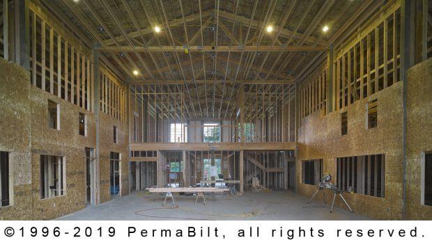 pole building interior