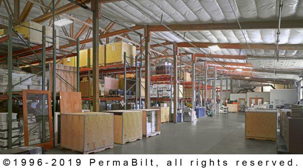 pole building warehouse interior
