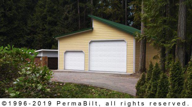 daylight post frame garage