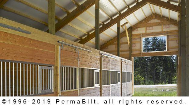 post frame horse stalls