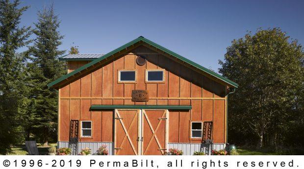 post frame building garage shop