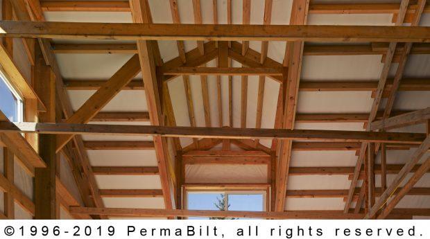 post frame building interior