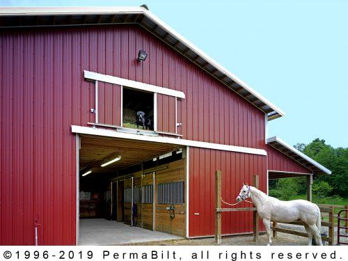 Permabilt horse barns horse arenas horse barn builders for Horse pole barn