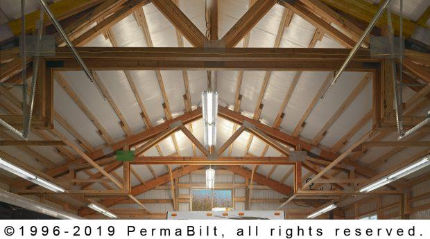 post frame garage interior