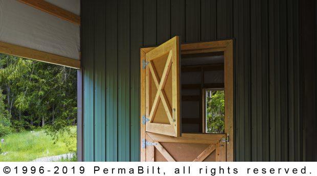 post frame building dutch door