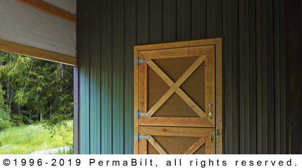 pole building dutch door