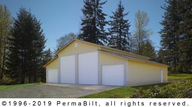 RV garage post frame