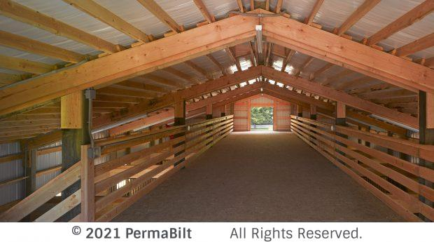 Second floor of the interior of a pole barn